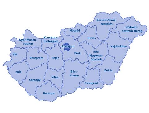 Hongarije Mode Kaart